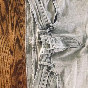 Loft Modern Skinny Gray Grey Jean